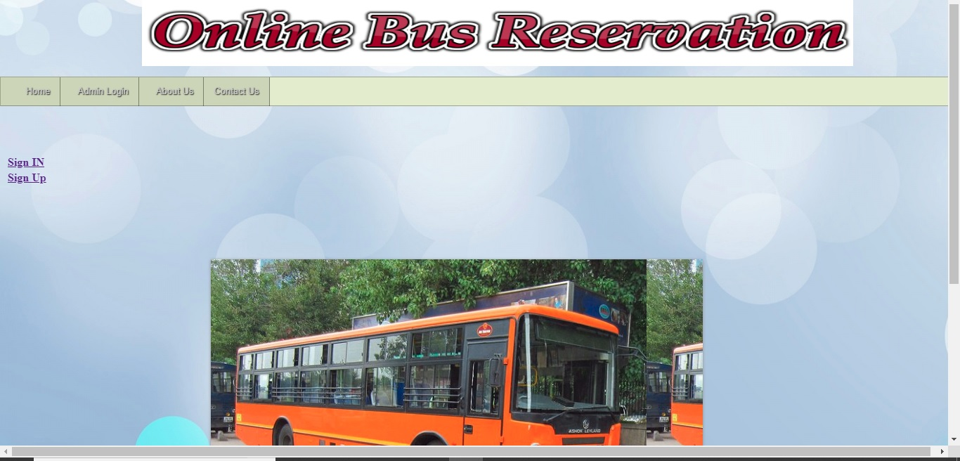 Online bus Reservation System php and mysql with source code